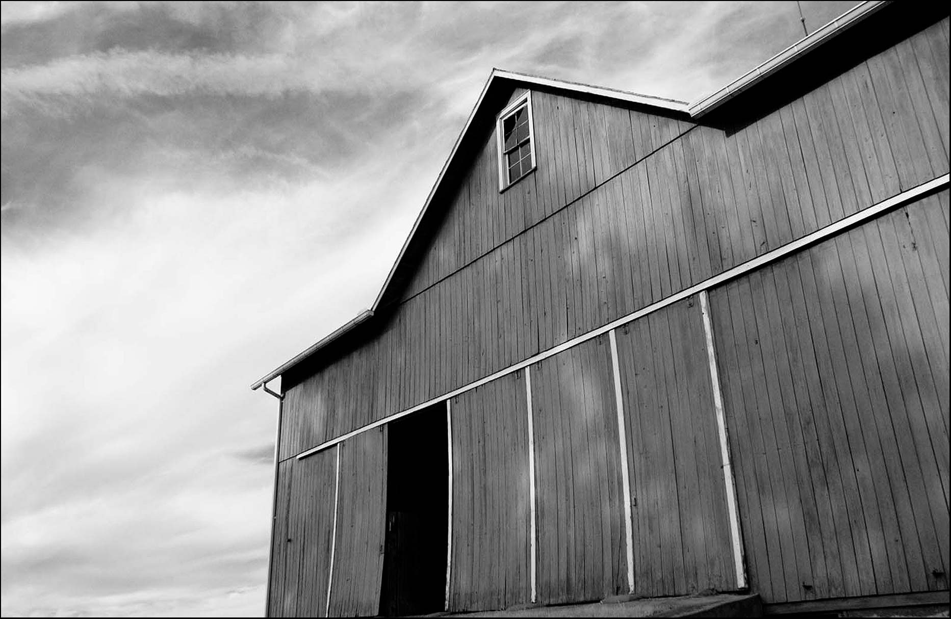 Barn shot in Black and white infrared